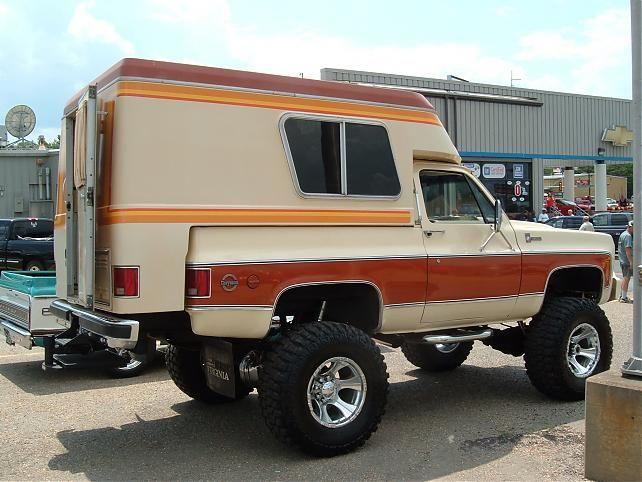 1977 Chevrolet Cheyenne Blazer With Chalet Camper Camionetas