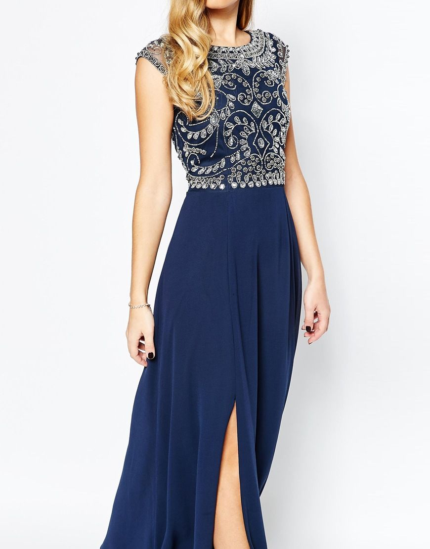 With Of 3 Frill Top Maxi Dress Image Frock And Embellished Thigh 4A3Rj5Lcq