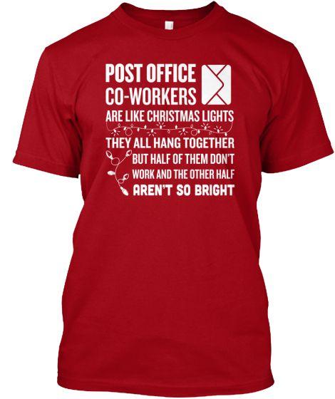 Christmas Coworkers Postal Worker Teespring
