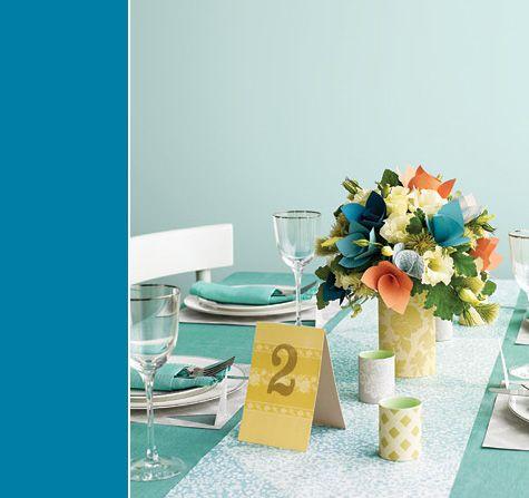 Paper flowers tablescape
