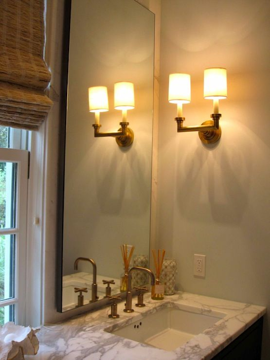 Driven By Decor Bathrooms Visual Comfort Lighting Wilton Double - Antique brass bathroom sconces