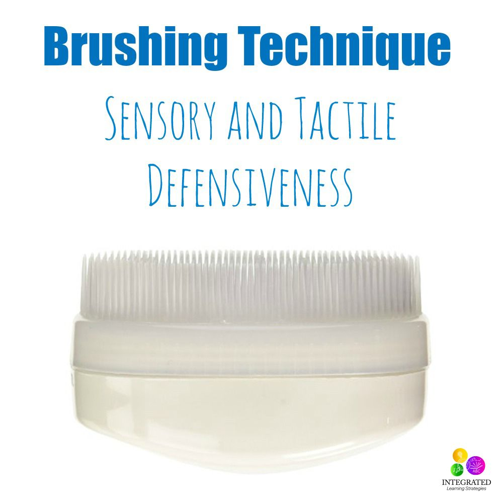 Brushing Technique for Sensory Tactile Defensiveness #sensorythings