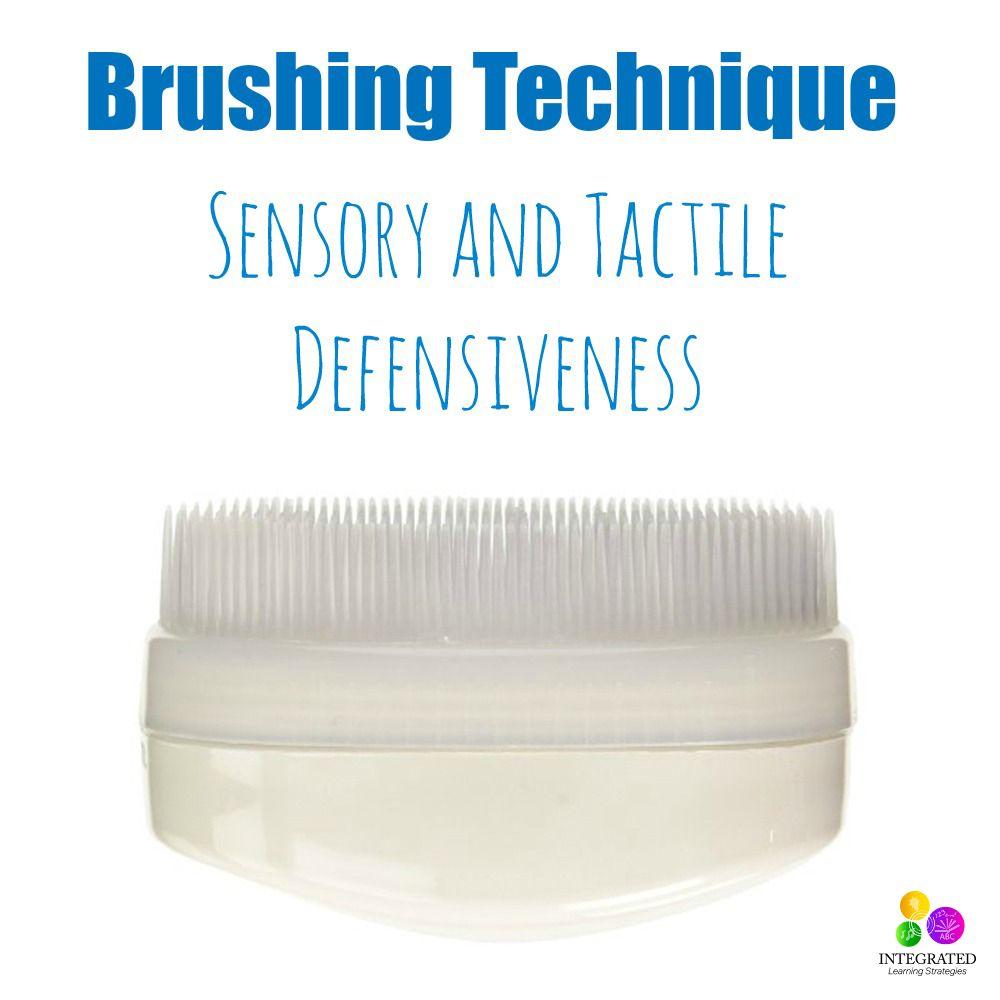 Brushing Technique for Sensory Tactile Defensiveness #sensorythings