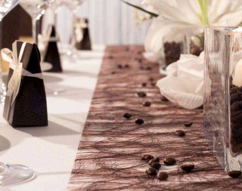 Sizoweb in passendem braunton tischdekoration for Hochzeitsdeko braun