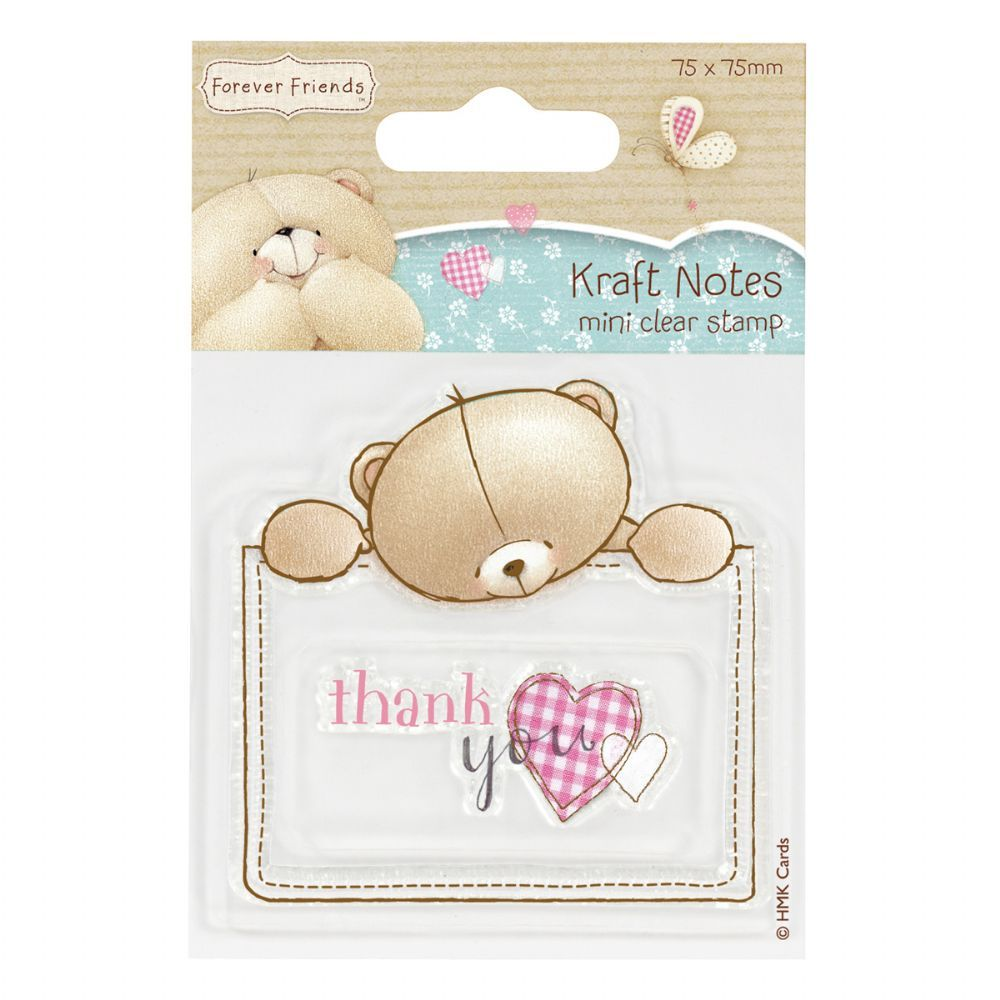 This Forever Friends Mini Clear Stamp Is From The Kraft Notes Collection And Is Of Thank You Design It Is Perfect For Use With Clear Stamps Friends Forever Stamp