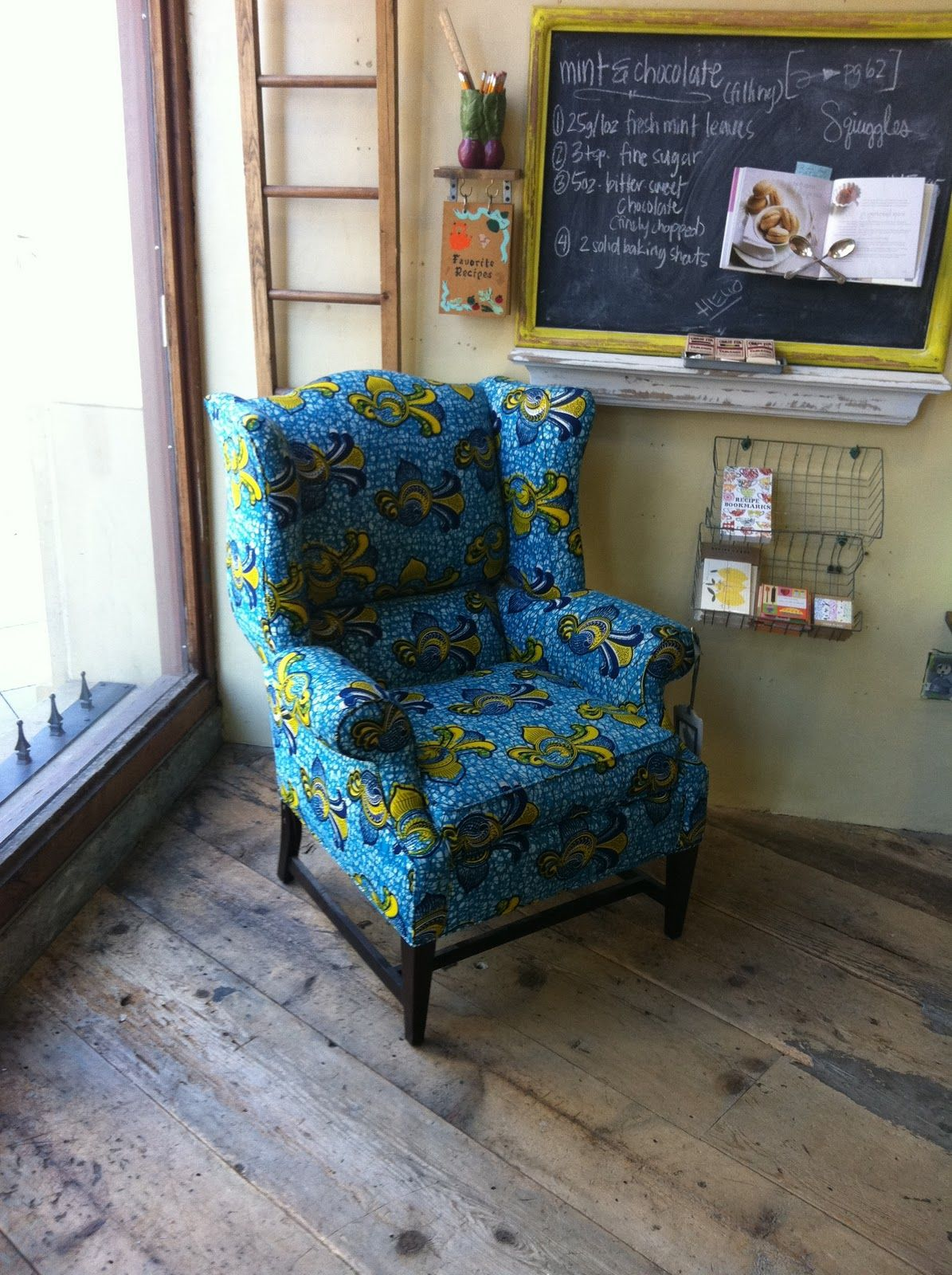 Anthropologie Josef Wingback Chair African Essence