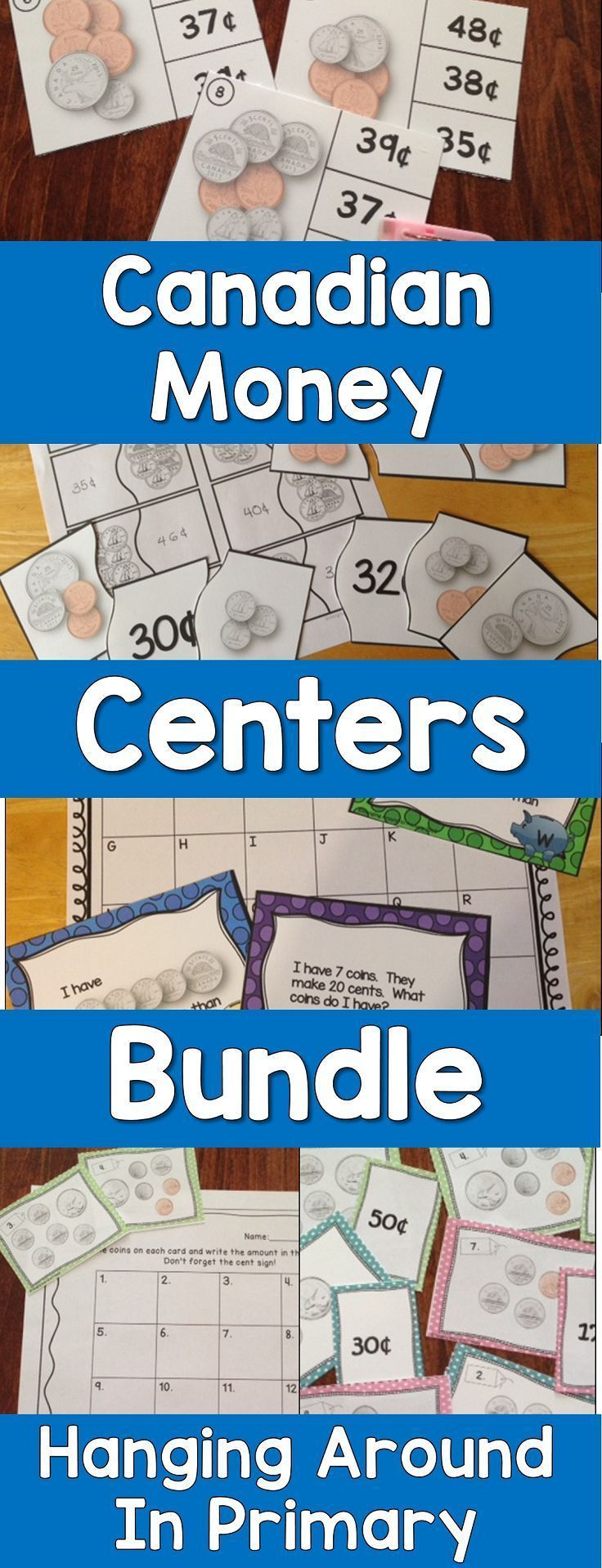 Canadian teachers this bundle is for you - 5 hands on money math ...