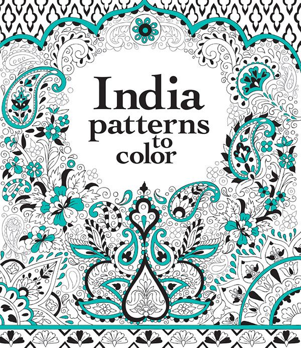 India Patterns to Color IR | Melanie Usborne Activity books | Pinterest