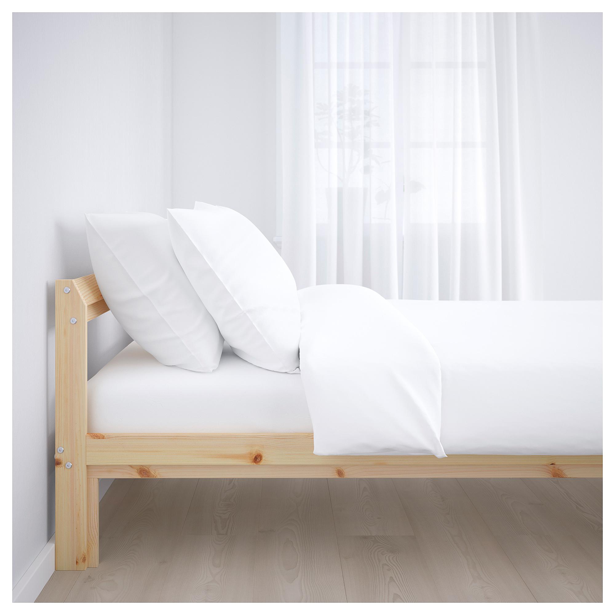 Neiden Estrutura De Cama Pinho 140x200 Cm Ikea Bed Frame