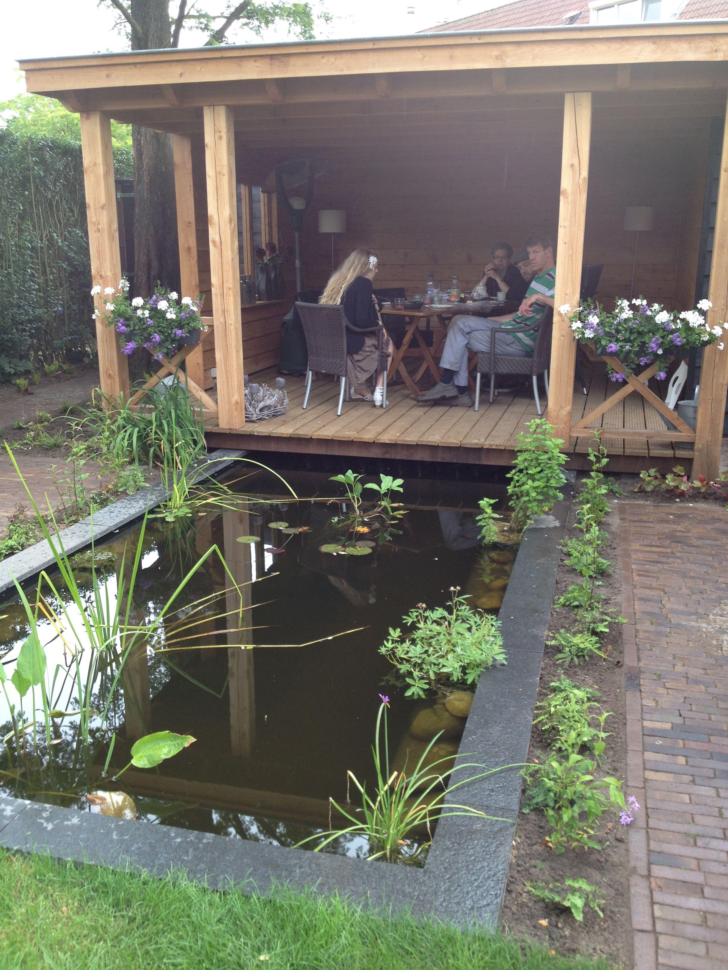 End Of Garden // Pond // Wooden Deck // Wood Deck Over Pond
