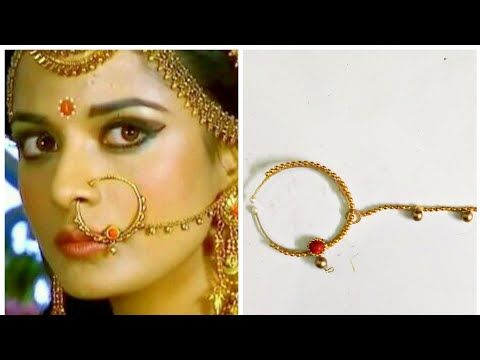 How to make Draupadi inspired Nosering - YouTube