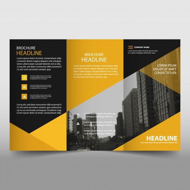 Yellow and black trifold business brochure template free vector yellow and black trifold business brochure template free vector fbccfo Choice Image