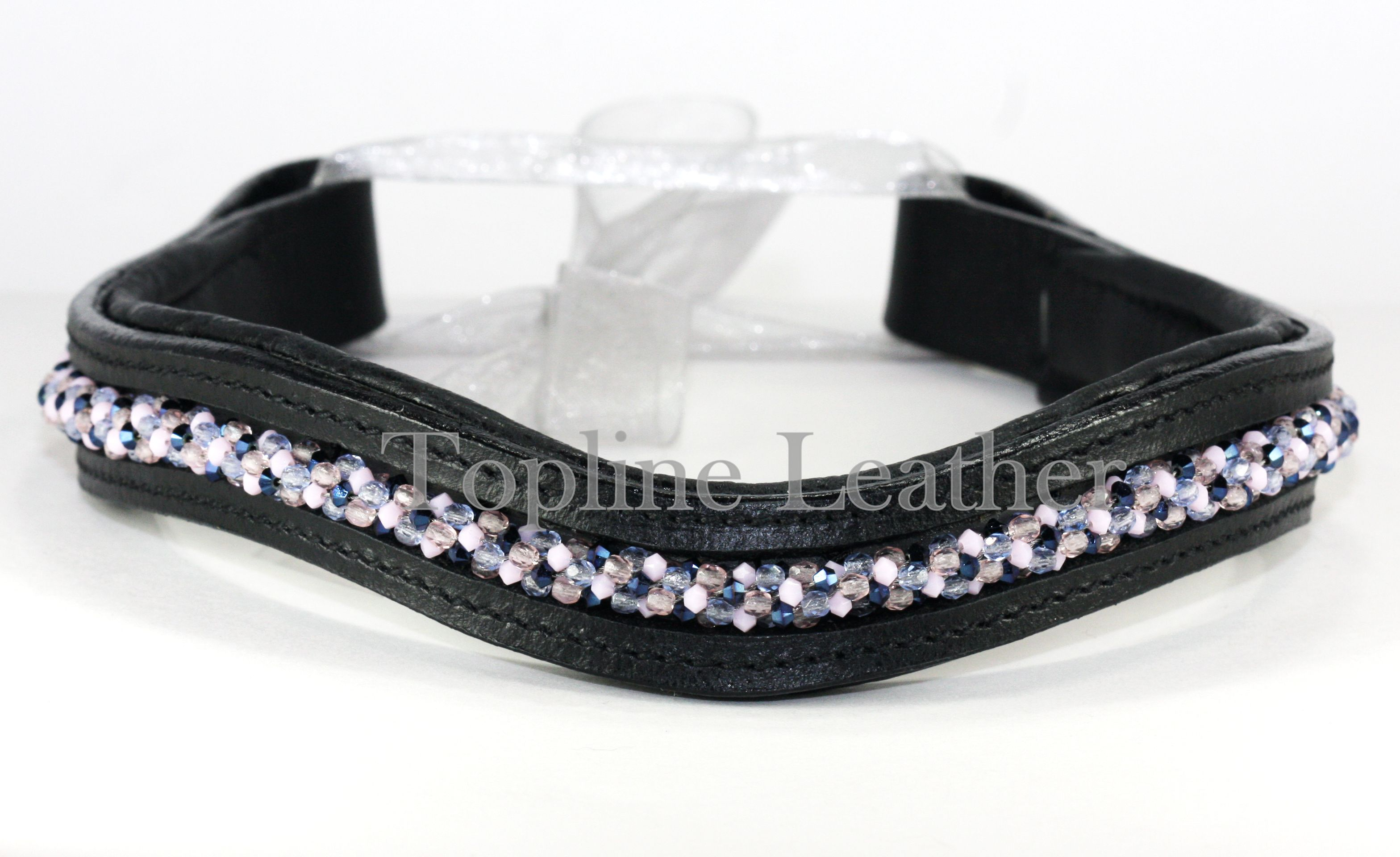 Custom Handmade Woven Crystal Browband Made By Topline Leather