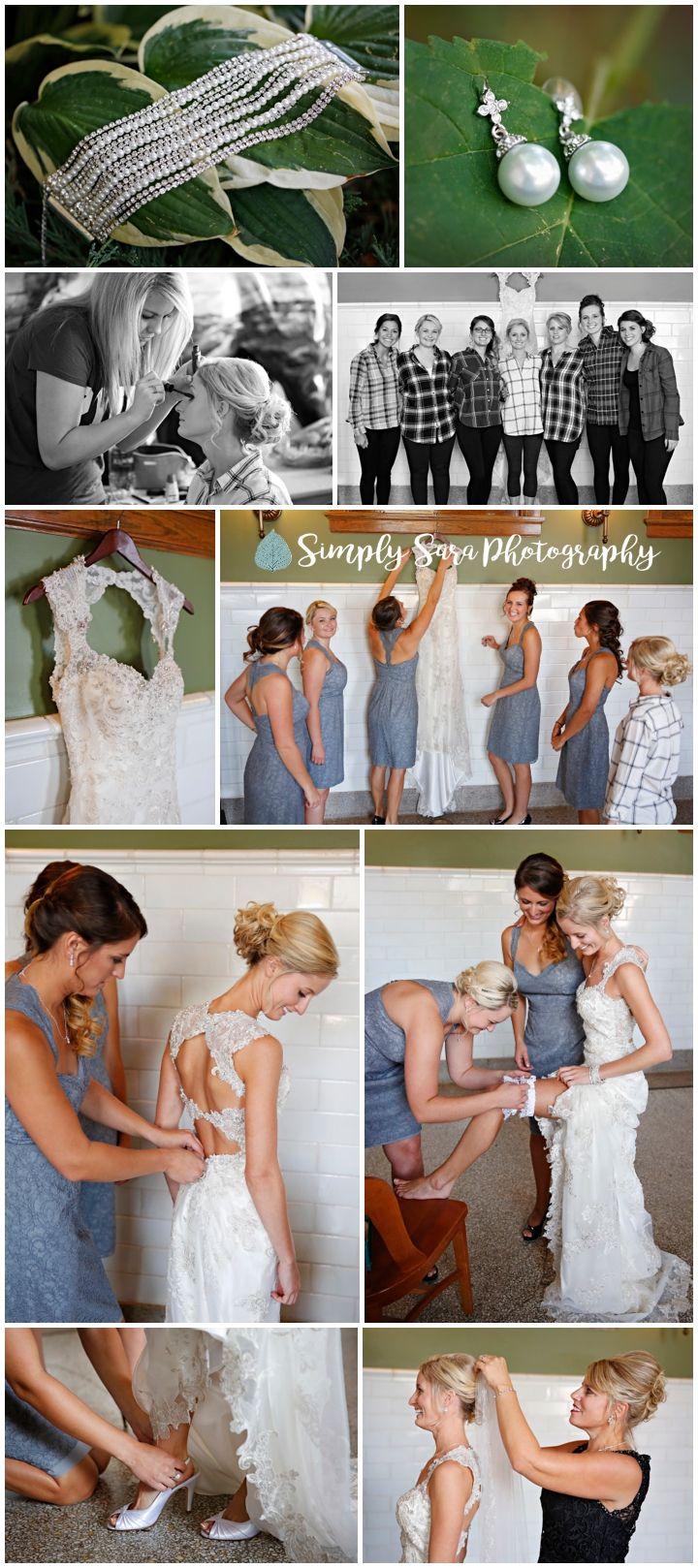 Getting Ready Photos - Bride\'s Details - Jewelry - Dress - Garter ...