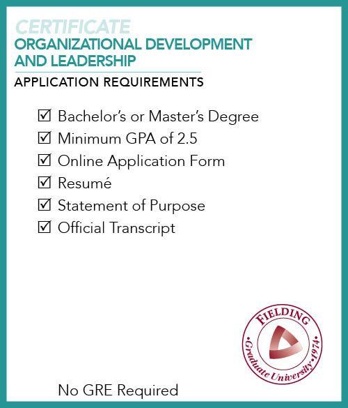 Organizational Development And Leadership Certificate