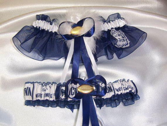 Handmade Wedding Garter Set UCONN HUSKIES with by GartersByKristi, $29.99   Wedding  garter set, Garter set, Handmade wedding