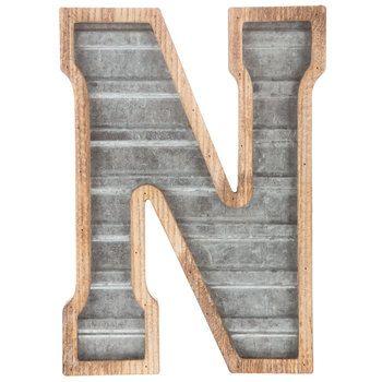 Wood Galvanized Metal Letter N Metal Letters Galvanized Metal Metal Letters Hobby Lobby