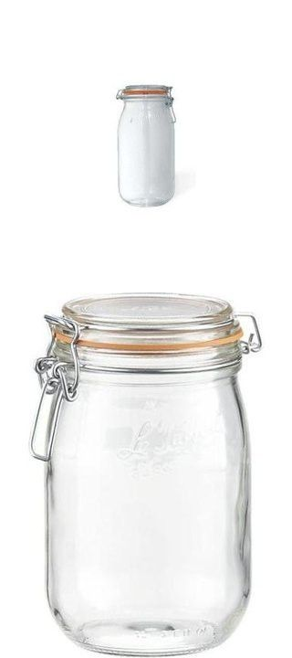 Le Parfait French Glass Canning Jar With 85mm Gasket And Lid 1 Liter Glass Canning Jars Le Parfait Jar