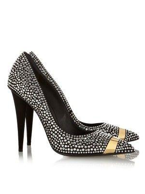 0522dbfb7059 Women s Stiletto Heel Suede Closed Toe With Rhinestone High Heels ...