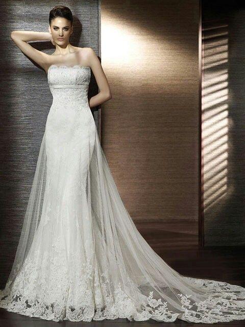 strapless + encaje =♥♥ ♥ | wedding dress | pinterest | vestidos