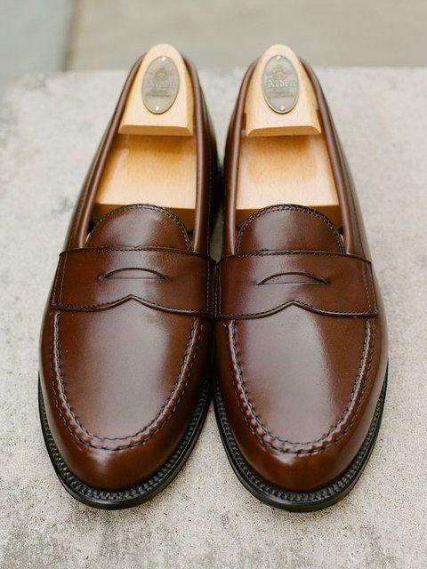 Men's shoe fashion. Alden Leisure hand-sewn Penny Loafer, dark brown. | Men's  Footwear | Pinterest | Penny loafers, Grown man and Men street
