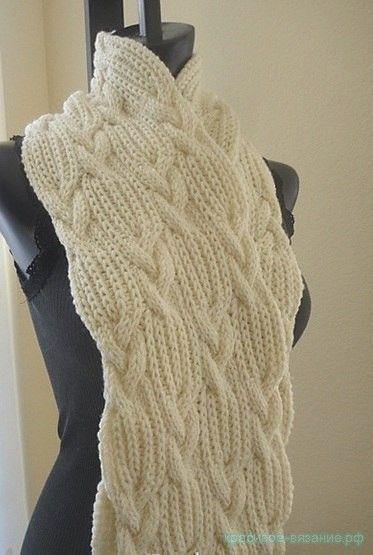 Схемы вязания двухсторонних шарфов 889