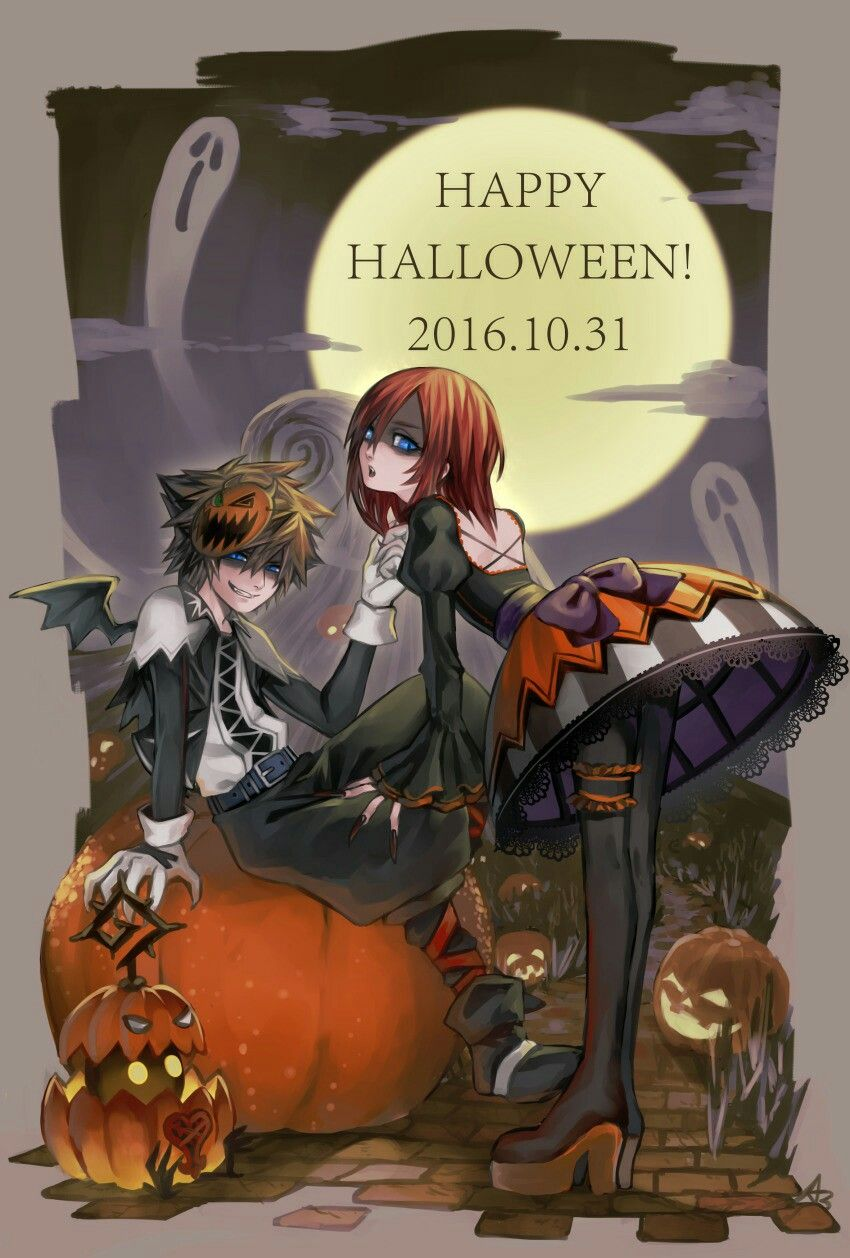 Halloween Town Sora & Kairi   kingdom hearts   Pinterest ...