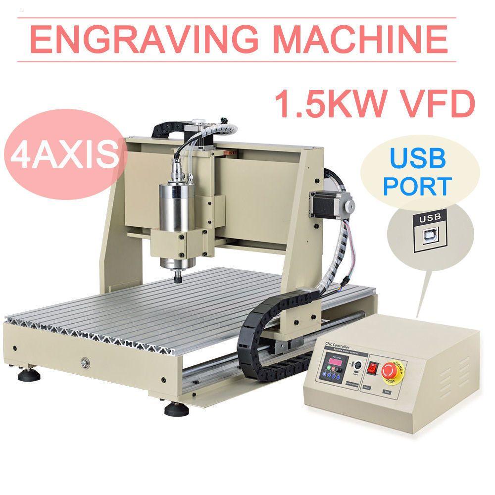 4axis Usb Cnc 6040 1 5kw Vfd Router 3d Engraver Milling Cutter Carving Machine Ebay Link Cnc Router Cnc Milling Machine