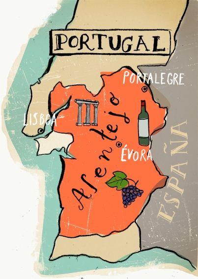 Map of Portugal - Lehel Kovacs