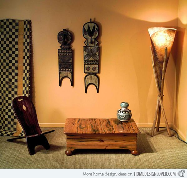 17 Awesome African Living Room Decor | Home Design Lover Wall Color Inspo