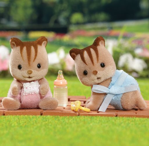 Calico Critters Hazelnut Chipmunk Twins New