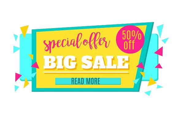 Big Sale Tag Graphics Super Sale and Special Offer paper banner - sale tag template