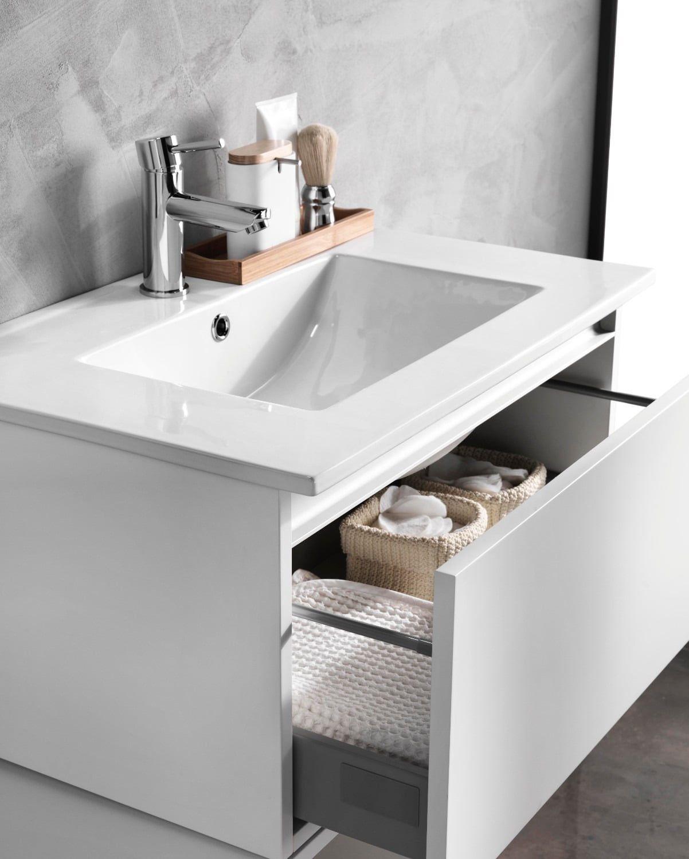 Bagno Mobili E Accessori.Mobile Bagno Sospeso 70 Cm In Legno Tft Ibiza Bianco Opaco