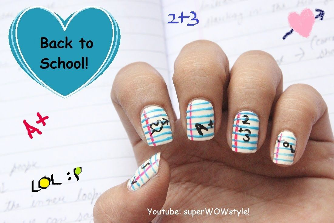 Back to School Nail Art Design Tutorial - superwowstyle | Nails and ...