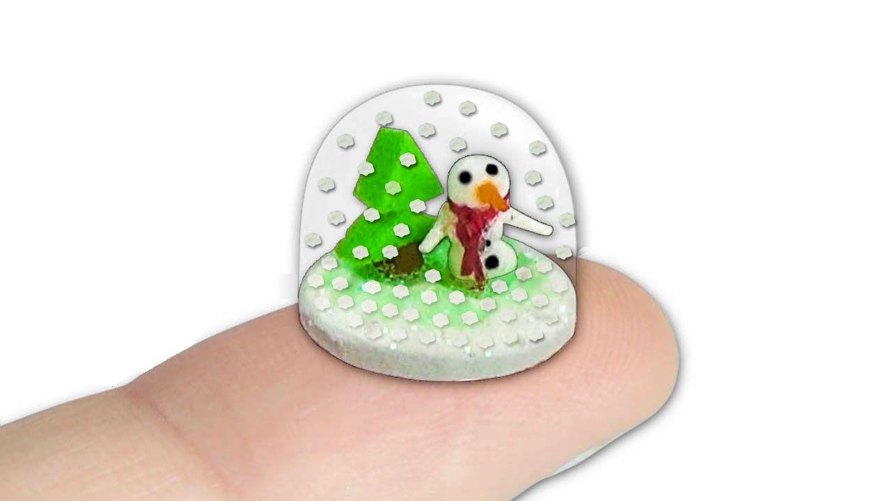 Comment Faire Des Boule A Neige comment faire une boule à neige miniature pour poupée