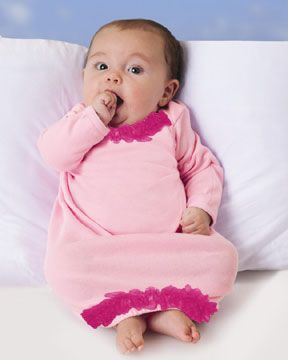 Ruffled Newborn Baby Layette Gowns: Boutique Embroidery Blanks ...