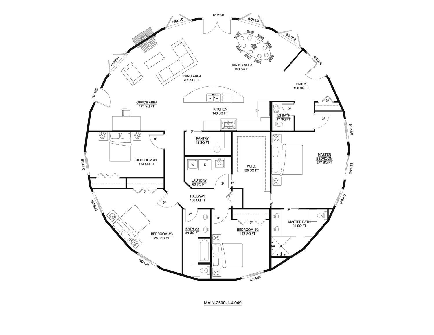 Deltec floor plan round house and home pinterest for Round homes floor plans