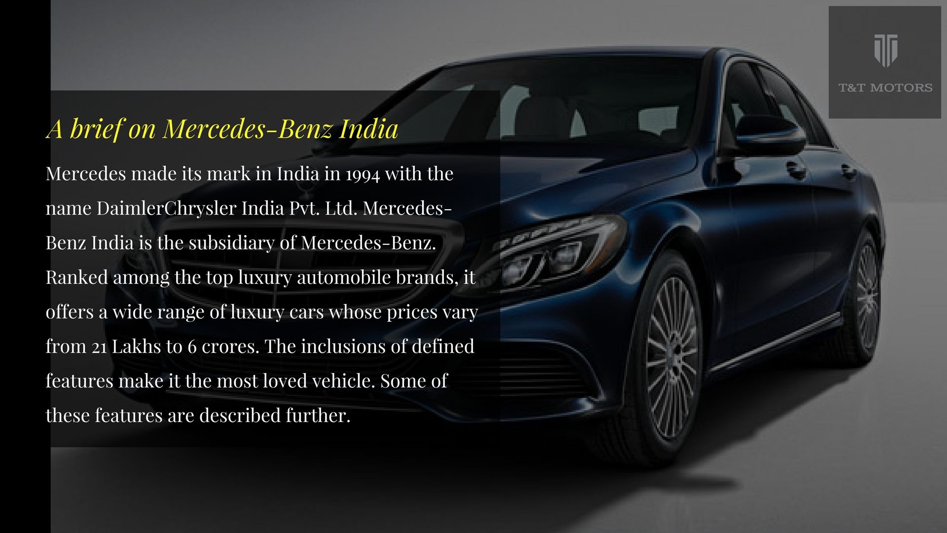 A Brief On Mercedes Benz India Mercedes Benz Mercedes Benz