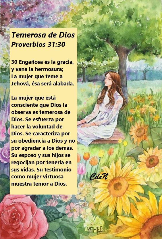 Mujer virtuosa temerosa de dios