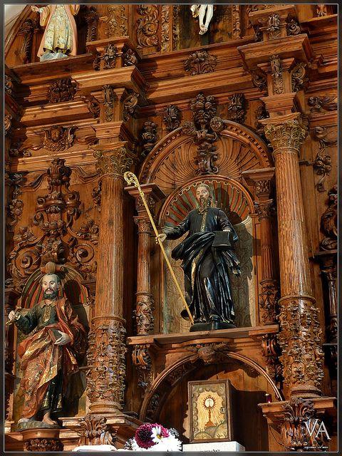 Church interior at San Millan de Juarros. Burgos, Spain by Trensamiro, via Flickr