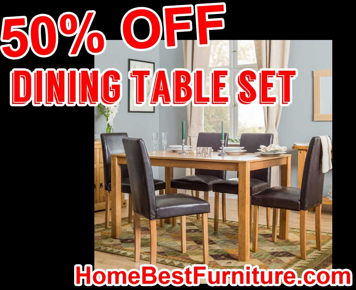 50 PERCENT OFF Discount Macomb Dining Table Set with 6 Chairs