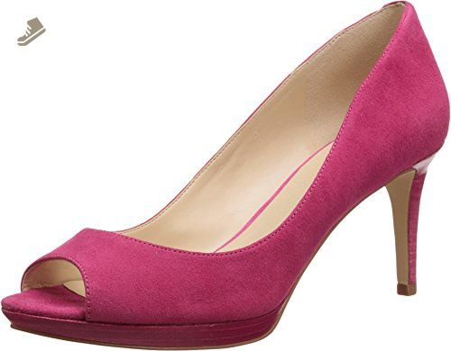 Nine West Womens Gelabelle Peep Toe Classic Pumps Pink Size 11.0