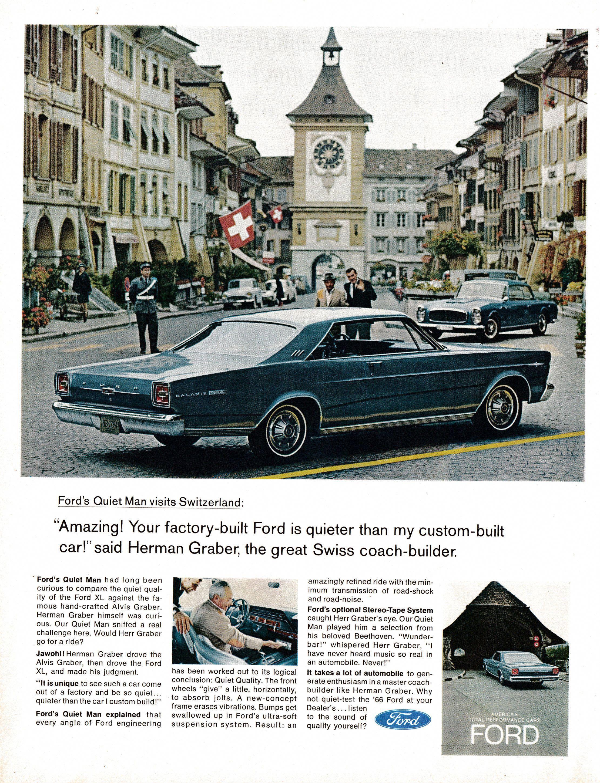 1966 Ford Galaxie 500 Xl Herman Graber Builder Original 13 5