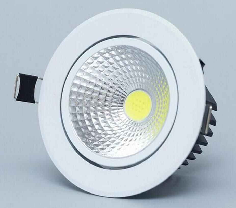 White round Dimmable Led downlight light COB Ceiling Spot Light 5w ...