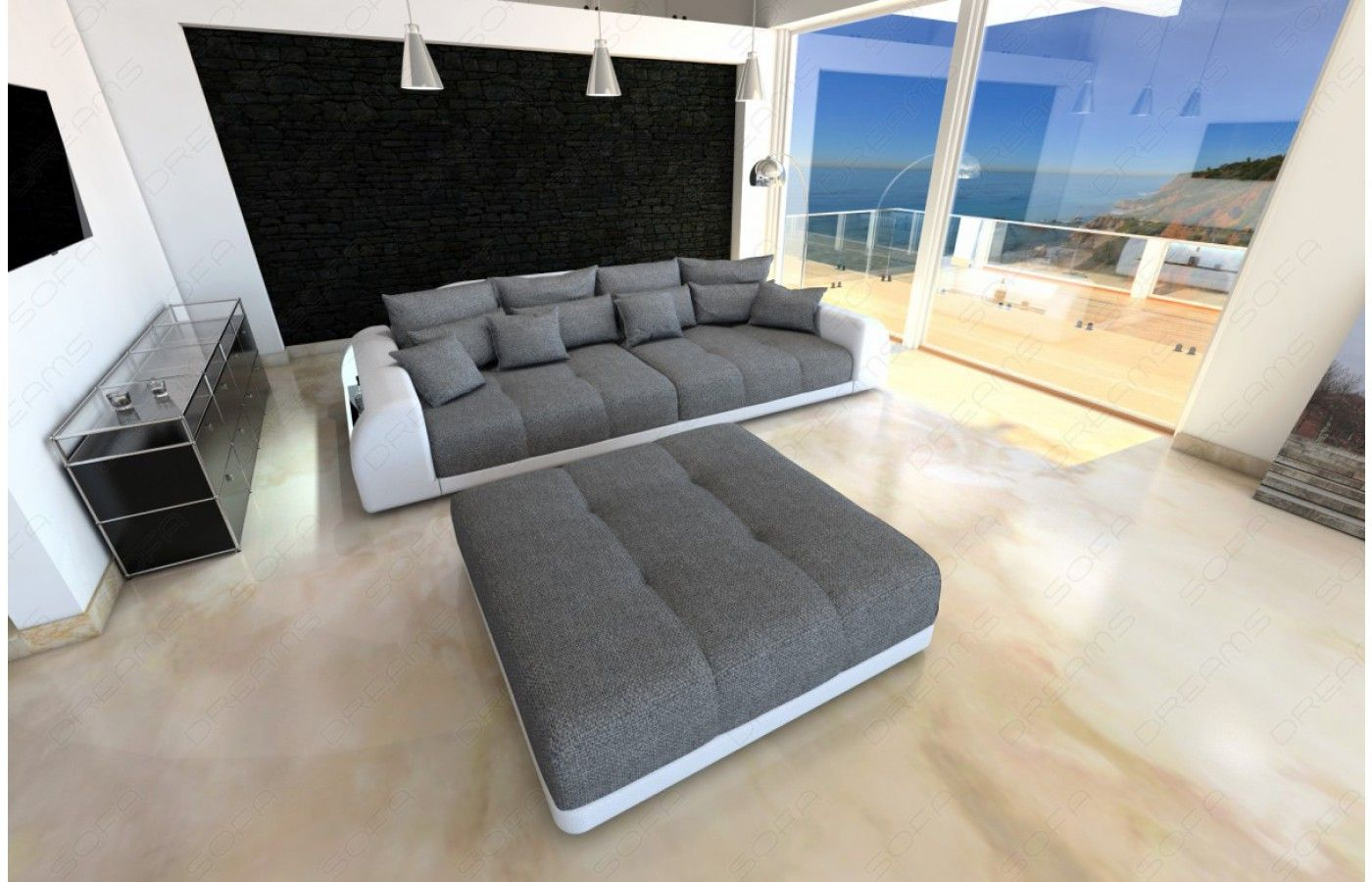 Cool  Design BigSofa mit LED Beleuchtung Exklusiv bei Sofa Dreams Big Sofa MIAMI Pinterest LED Sofas and Dreams