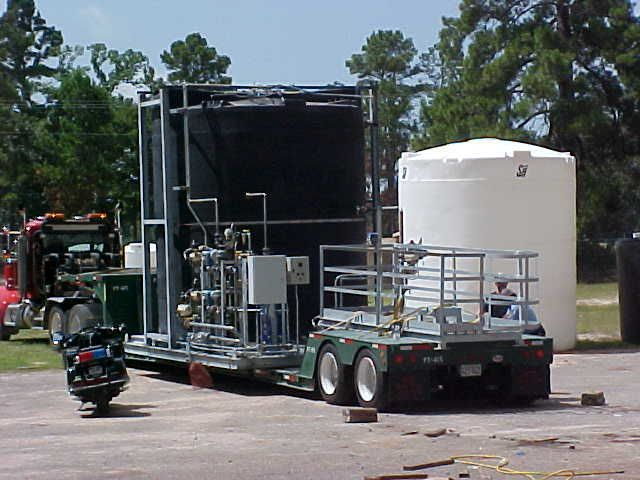 10 000 Gallon Chemical Blending System Ethylamine From Amprotec Net Water Storage Tanks Rain Water Tank Water Storage