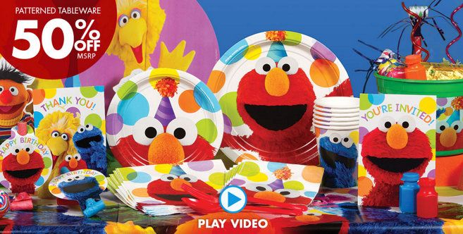 I love Party City they have all you need for Elmo theme party