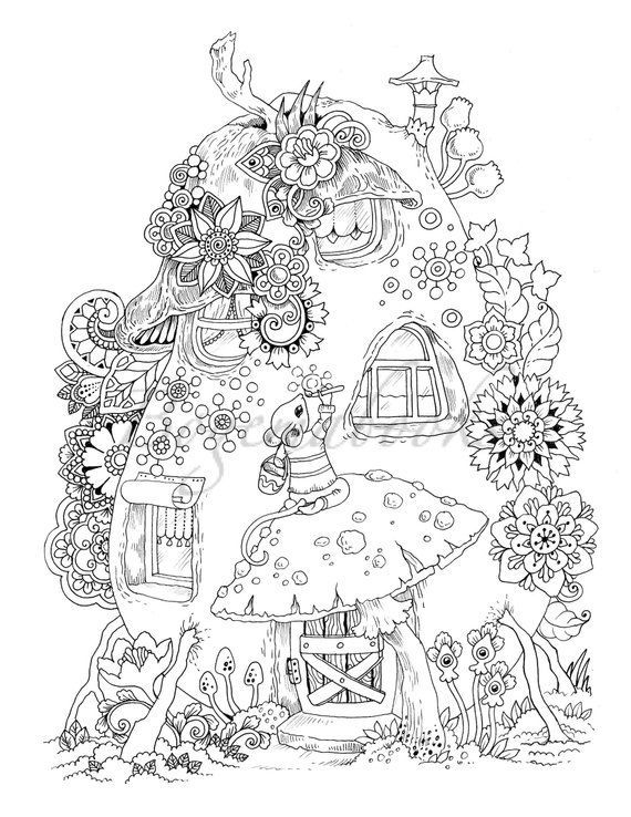 Photo of Nice Little Town 6 (Adult Coloring Book, Coloring pages PDF, Coloring Pages Prin…