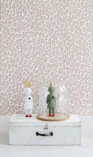 wallpaper leopard print peach pink #FAB 128821 #behang #Tapete ...