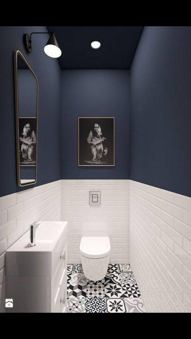 Idée peinture toilette | Home improvements | Badezimmer ...